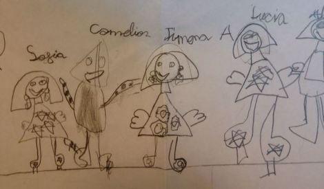 Un dibujo de JIMENURRIAX, hermana de JULIETICIA
